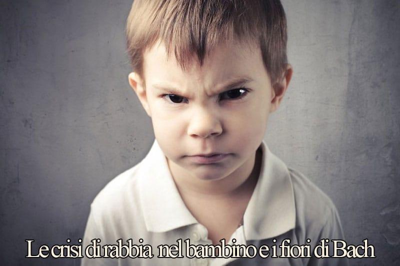 crisi di rabbia nel bambino