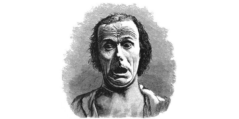 Illustrazione della paura, da L'espressione delle emozioni nell'uomo e negli animali di Charles Darwin.