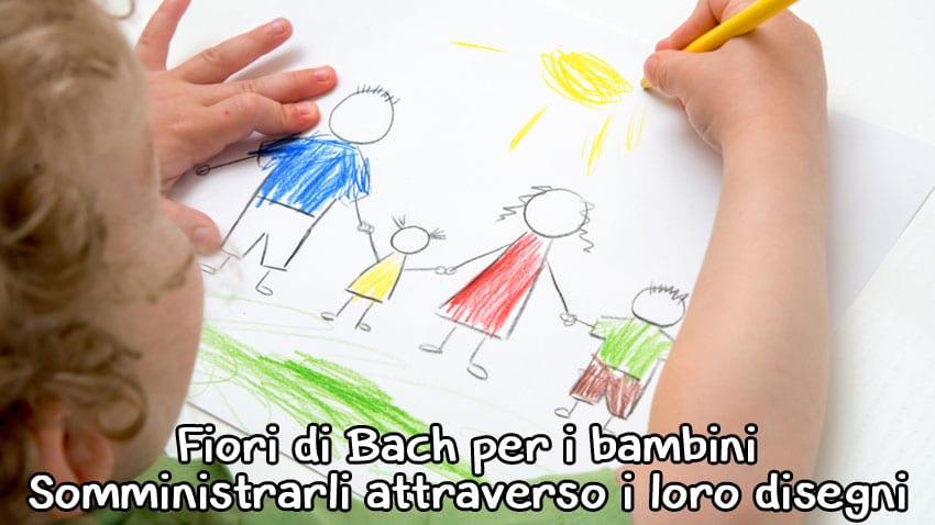 fiori di Bach per bambini attraverso loro disegni