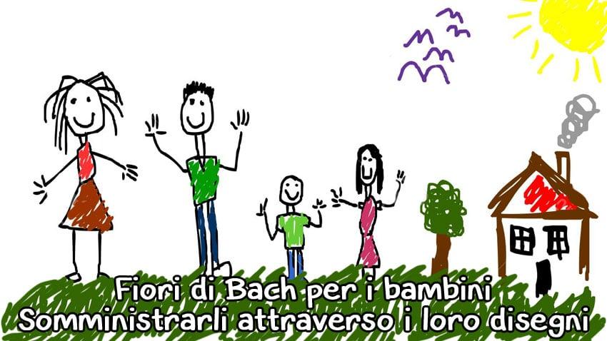 Fiori di Bach per bambini: come somministrarli attraverso i loro disegni