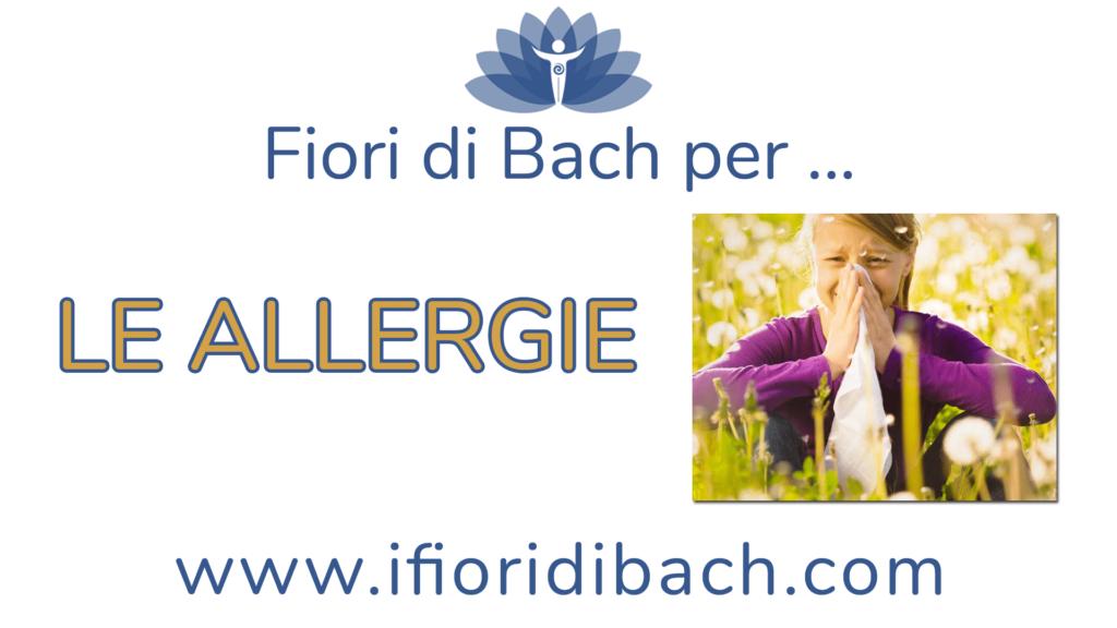 Fiori di Bach per le allergie